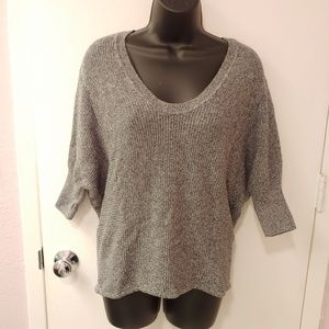 EXPRESS gray marled dolman 3/4 sleeve sweater